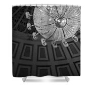 Chandelier-black And White Shower Curtain