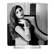Chanel Chanel Bw Palm Springs Shower Curtain