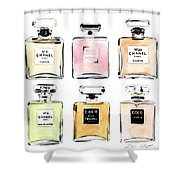 Chanel Perfumes Shower Curtain