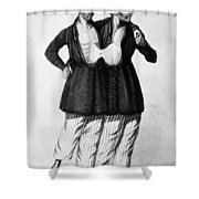 Chang And Eng (1811-1874) Shower Curtain