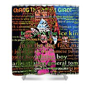 Chang The Chinese Giant - Human Carnival Sideshows And Other Oddities Of The World 20130626 Shower Curtain