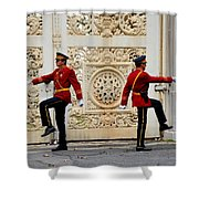 Change Of Guards Ceremony Dolmabahce Istanbul Turkey Shower Curtain