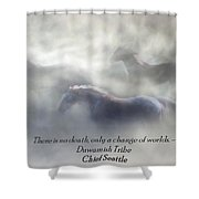 Change Of Worlds Shower Curtain