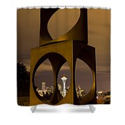 Changing Form Of Seattle Shower Curtain