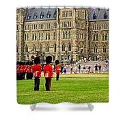Changing Of The Guard In Front Of Parliament Building In Ottawa- Shower Curtain
