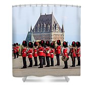 Changing Of The Guard The Citadel Quebec City Shower Curtain