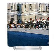 Changing Of The Horse Guard  Shower Curtain
