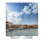 Chania Town On Crete Shower Curtain