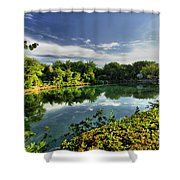 Chankanaab Lagoon Reflections Shower Curtain