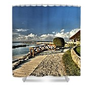 Chankanaab Walkway Shower Curtain