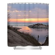 Channel Sunset Shower Curtain
