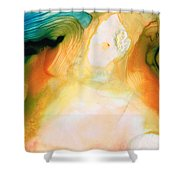 Channels - Abstract Art By Sharon Cummings Shower Curtain