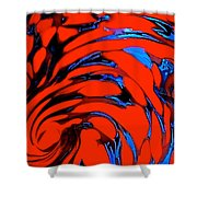 Chaos Flow Shower Curtain