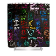 Chaos In Colors Shower Curtain
