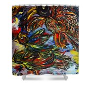 Chaos In Flight Shower Curtain