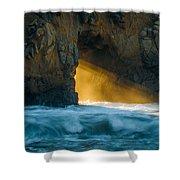 Chaos - Pfeiffer Beach Shower Curtain by George Buxbaum