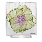 Chaoscope Abstract 3d Stereo - Use Red-cyan Filtered 3d Glasses Shower Curtain