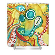 Chaotic Canine Shower Curtain