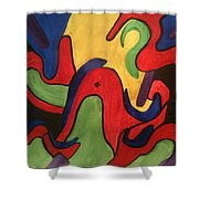 Chaotic Thought Shower Curtain