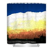 Chaparra Supercell At Sunset Shower Curtain