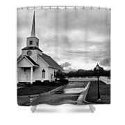 Chapel At Four Winds In Conway Arkansas Shower Curtain