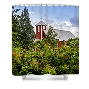 Chapel At The Antique Rose Emporium Shower Curtain