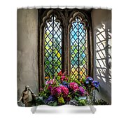 Chapel Flowers Shower Curtain by Adrian Evans