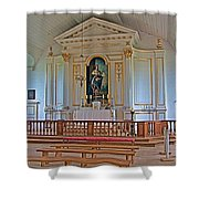 Chapel In King's Bastion In Louisbourg Living History Museum-174 Shower Curtain