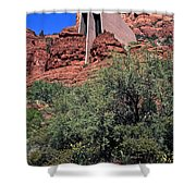 Chapel In Red Rocks Shower Curtain