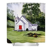 Chapel In The Mounts Shower Curtain