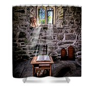 Chapel Light Shower Curtain by Adrian Evans