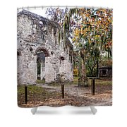 Chapel Of Ease Ruins And Mausoleum St. Helena Island South Car Shower Curtain