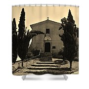 Chapel Of San Amasio Shower Curtain
