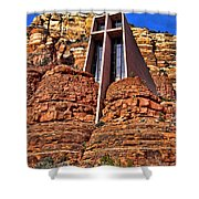 Chapel Of The Holy Cross  Sedona Arizona Shower Curtain