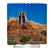 Chapel Of The Holy Cross Sedona Az Front Shower Curtain