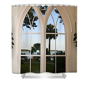 Chapel Palmetto Bluff Sc Shower Curtain
