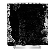 Chapel Rock Foundations Bw Shower Curtain