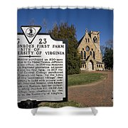 Chapel University Of Virginia Shower Curtain