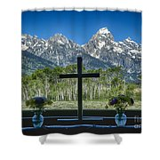 Chapel View Shower Curtain
