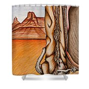 Chaps Shower Curtain