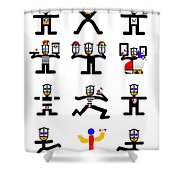 Character Act Shower Curtain