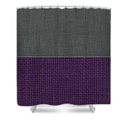 Charcoal With Purple Shower Curtain