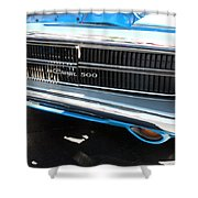 Charger 500 Front Grill And Emblem Shower Curtain