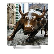 Charging Bull 1 Shower Curtain