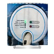 Charging Station For Electric Hybrid Car Shower Curtain