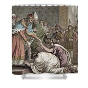 Charlemagne Receives The Ambassadors Shower Curtain