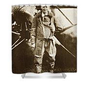 Charles A. Lindbergh And Spirit Of St. Louis May 12 1927 Shower Curtain