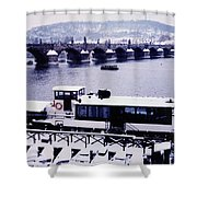Charles Bridge In Winter Shower Curtain