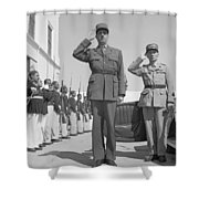 Charles De Gaulle In Carthage Tunisia 1943 Shower Curtain