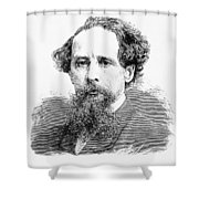 Charles Dickens, English Author Shower Curtain